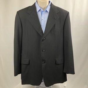 Hickey Freeman men's sport coat blazer grey 42R